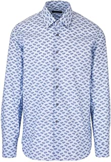 PRADA Luxury Fashion Mens UCM6081VYMF0076 Light Blue Shirt | Spring Summer 20