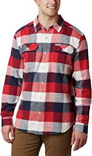 Columbia Mens Flare GunTM Stretch Flannel Short Sleeve Button Down Shirt