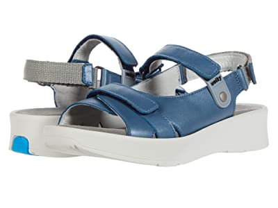 Wolky Globe (Steel Blue Sienna Pearl Leather) Women