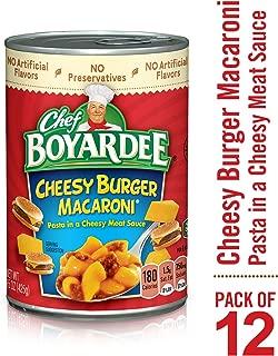 Chef Boyardee Cheesy Burger Macaroni, 15 oz, 12 Pack
