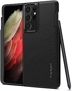 Spigen Liquid Air P designed for Samsung Galaxy S21 ULTRA case cover - Matte Black (S-Pen NOT included)