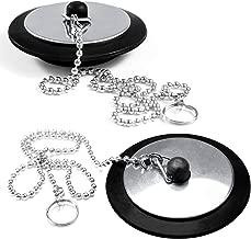 Tap/ón de la ba/ñera con cadena de bolas de 45 mm 450 mm blanco//cromo Bulk hardware BH03432