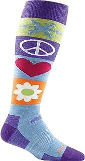 Darn Tough Peace Love Snow Over The Calf Cushion Socks Women's Small
