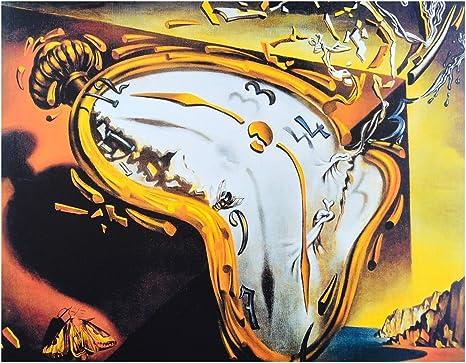 Germanposters Salvador Dali Die Fließende Zeit Uhren Poster Kunstdruck Bild 24x30cm Amazon De Küche Haushalt