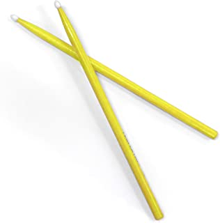 Performance Plus Practice Nylon Tip Wood Drumstick Yellow - Size 7A (P7AY)