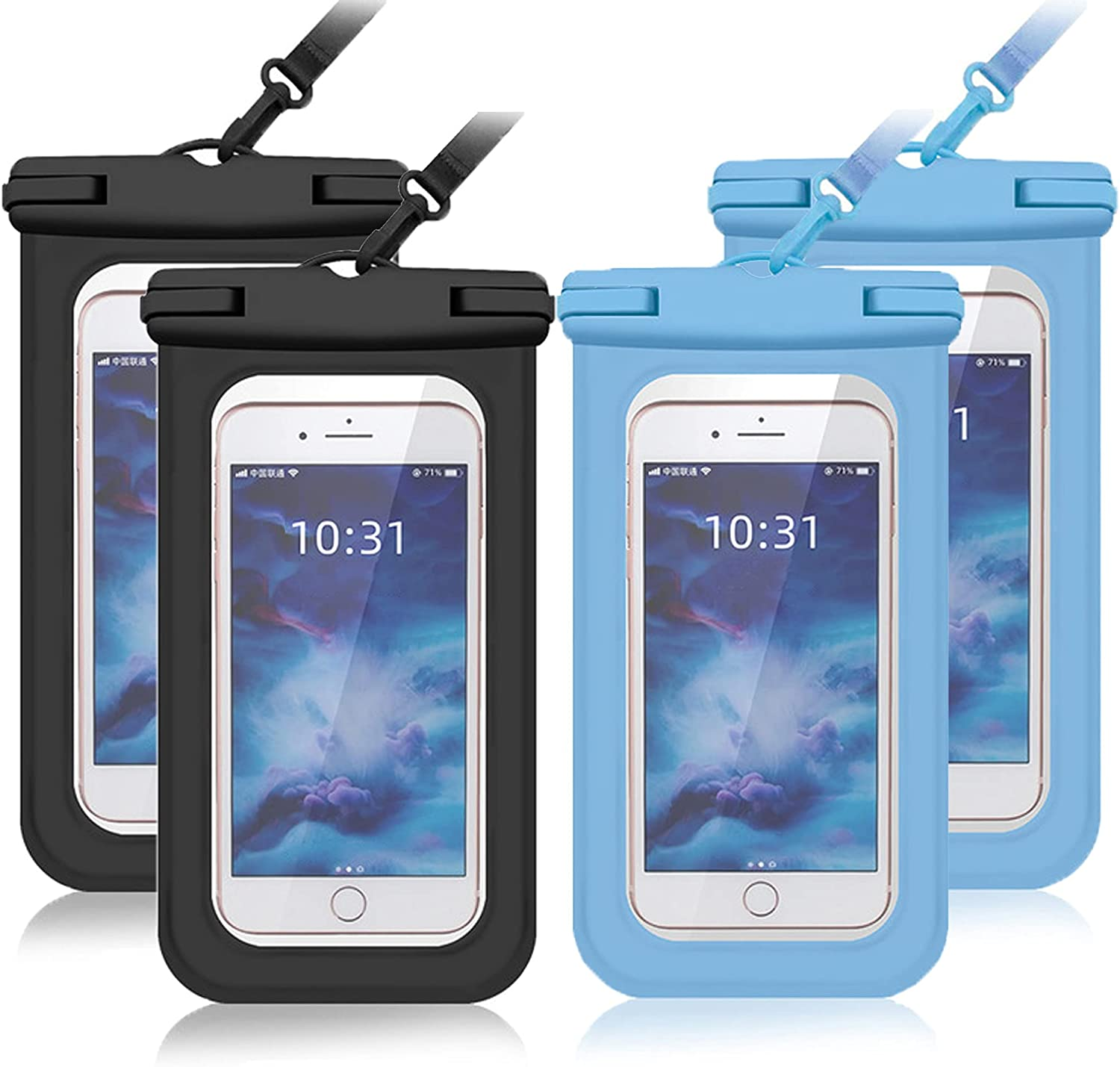 Universal Waterproof Phone Case, Waterproof Phone Pouch for iPhone 12 Pro 11 Pro Max XS Max XR X 8 7 Samsung Galaxy s10/s9 Google Pixel 2 HTC Up to 6.9
