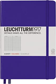Leuchtturm1917 Medium A5 Squared Hardcover Notebook (Purple) - 249 Numbered Pages