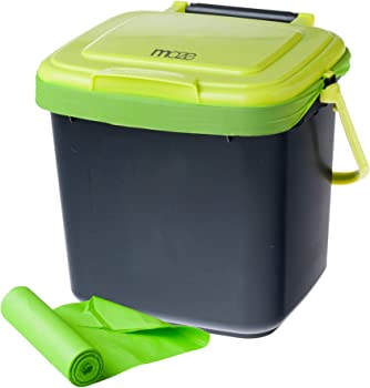 MAZE 1.85-Gal. Compost Caddy with 120-Count Compostable Bags