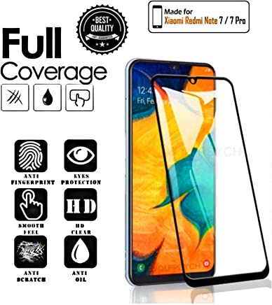 Aeidess Full Edge to Edge 11D Tempered Glass Screen Protector for Redmi Note 7/ Note 7 pro (2019) Black