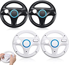 $27 » Sponsored Ad - 4 Pack Mario Kart Wii Steering Wheels, Racing Games Remote Steering Wheels Compatible with Mario Kart, Game...