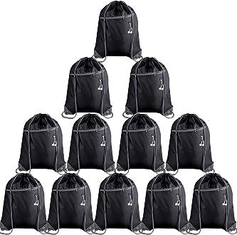 KUUQA 8Pcs Drawstring Backpack Bags String Bag Cinch Sackpack Tote Gym Bag