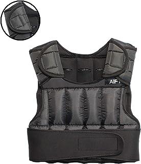 AIFY ウエイトベスト ウエイトジャケット 重量調節可 パワーベスト 加重ベスト パワージャケット 重り 食い込み防止の肩パッド付き 筋トレ ジャケット ウェイト ベスト 重量ベスト トレーニング 負荷運動 ウォーキング ランニング