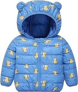 Ommda Mały chłopiec dziewczynki nadruk dinozaura puchar bluza płaszcz lekki dzieci odzież wierzchnia wyściełana kurtka z u...
