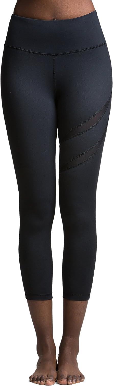 TITIKA Women's Yoga Pants Fitness Elastic Waistband Sexy Breathable Mesh Leggings