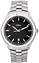 Ebel Classic Quartz (Battery) Black Dial Mens Watch 1216018 (Certified Pre-Owned)