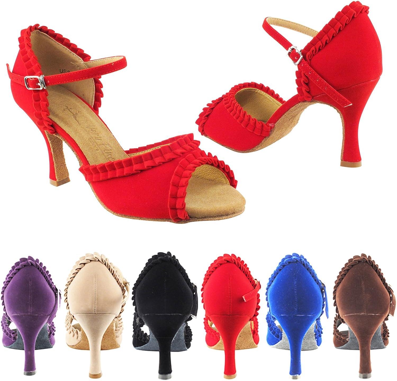 Party Party SERA7001 Comfort Evening Dress Pump, Wedding shoes  Women Ballroom Dance shoes 2.5  & 3  Heel, Salsa, Tango, Latin, Swing Salsa Tango Swing Latin