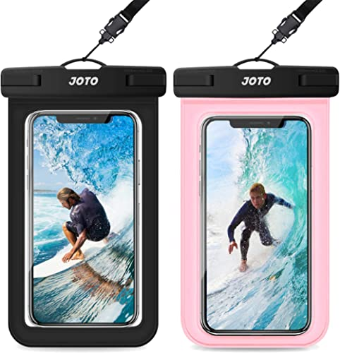 JOTO Universal Waterproof Case (2 Pack), IPX8 Waterproof Cellphone Pouch Dry Bag for iPhone Xs Max XR X 8 7 6S Plus, ...