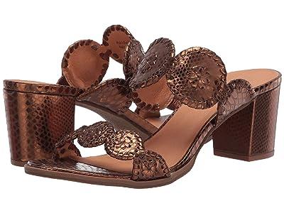 Jack Rogers Lauren Mid Heel Snake Emboss (Bronze) Women