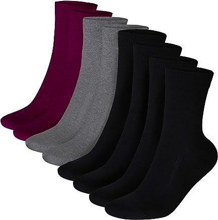 Calcetines de Algodón, para hombre y mujer, transpirables, amortiguados, fabricados en la UE, algodón certificado Oeko-Tex, calcetines clásicos de negocios y uso diario, negro, gris, rojo oscuro