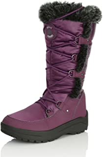 DailyShoes Women's Woman's Knee High Up Warm Fur Water Resistant Eskimo Snow Boots