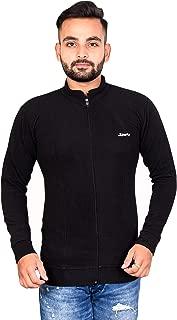 Naresh Chand Rakesh Kumar Jain Men's Woolen Full Zip Jacket Black