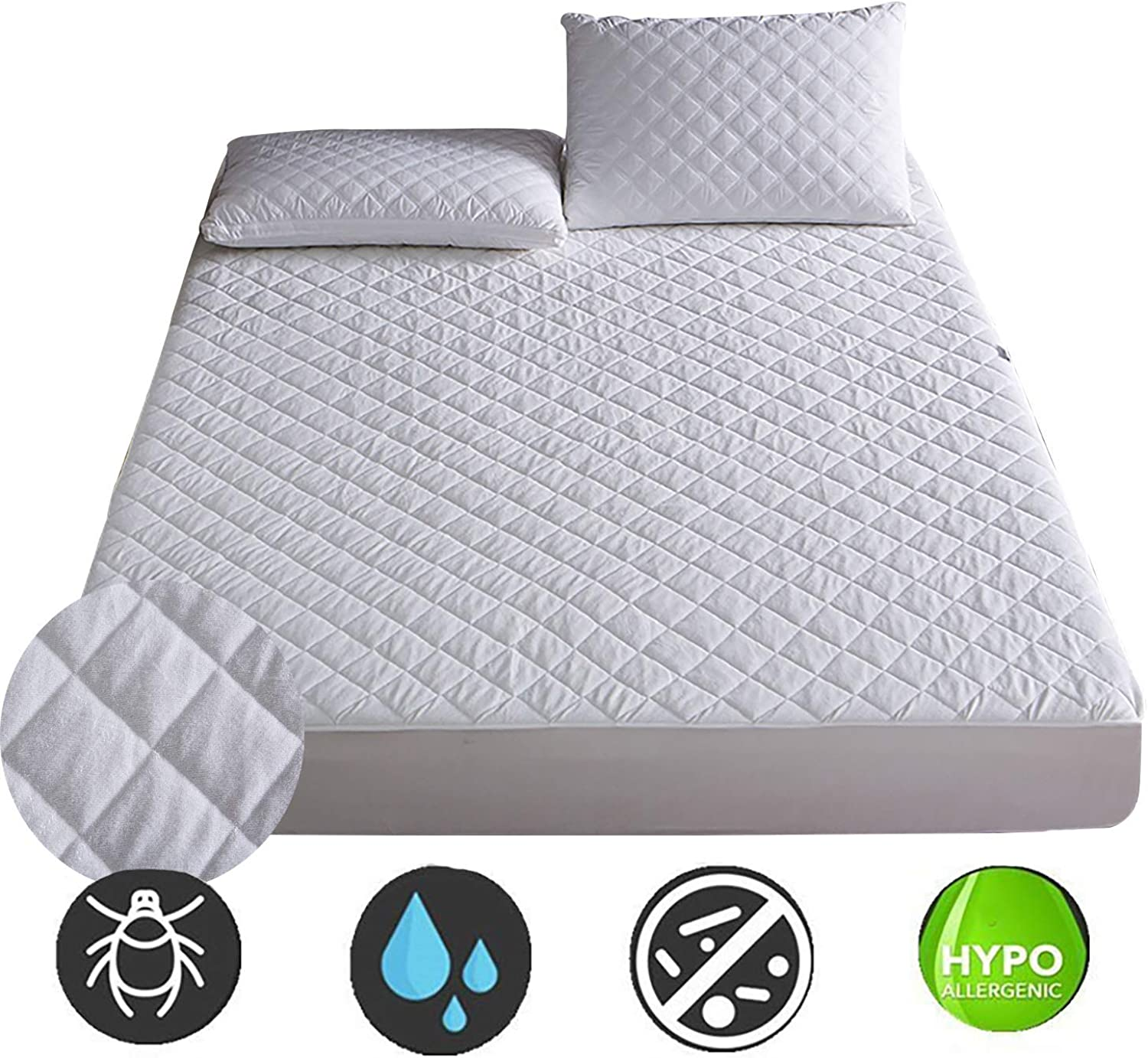 Waterproof Mattress Cover Thick Embossed Mattress Cover (72-200Cm) Thick Waterproof Mattress Mattress Cover,120X200cm
