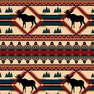 GRAPHICS & MORE Moose Diamond Pine Cone Pinecone Lodge Cabin Camping Premium Roll Gift Wrap Wrapping Paper