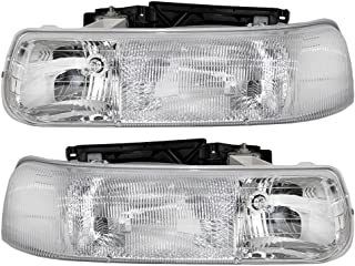 Driver and Passenger Headlights Headlamps Replacement for Chevrolet Pickup Truck SUV 16526133 16526134