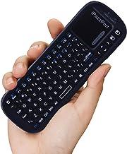 iPazzPort صفحه کلید بی سیم مینی بی سیم با کمبو با ماوس لمسی برای Android TV Box و Raspberry Pi 3 و HTPC و XBMC KP-810-19S - Black