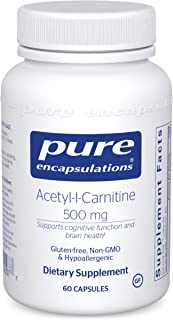 Pure Encapsulations Acetyl-l-Carnitine 500 mg   Memory Supplement for Brain, Focus, and Calmness*   60 Capsules