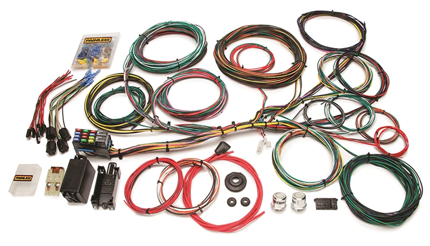 Painless 10123 Customizable Ford Color Coded Chassis Harness (21 Circuits)