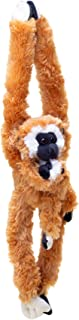32-Inch Hanging Brown Monkey Stuffed Animal With Baby - Monkey Toy With Specially Designed Ultra Soft Plush – Hands & Feet Connect Together - Bring These Popular Monkeys Home to Boys & Girls Ages 3+
