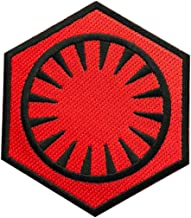 Star Wars First Order Embroidered 3.5 inc Iron on Sew on Patch (Red/Blk)