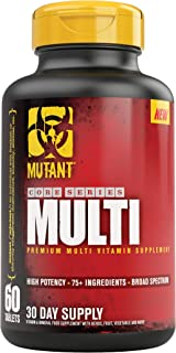 Mutant Multi - High Potency Vitamins with 75+ Ingredients Specifically Formulated for Heavy Lifting, 60 Tablets