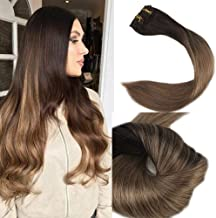 Full Shine Clip In Hair Extensions 12 Inch Short Balayage Clip In Hair Extensions 100 Grams Color 2 Darkest Brown Fading To 8 Ash Brown Thick Ends Clip On Human Hair For Women 10 Pieces
