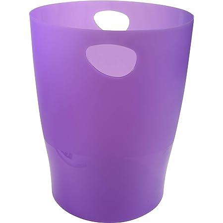 Exacompta Ecobin Corbeille à papier pour bureau 263 x 263 x 335mm 263x263x335mm Purple Translucent