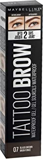 Maybelline New York Tattoo Brow Gel Tinte de Cejas 2 Días Tono 07 Black Brown Moreno - 5 ml