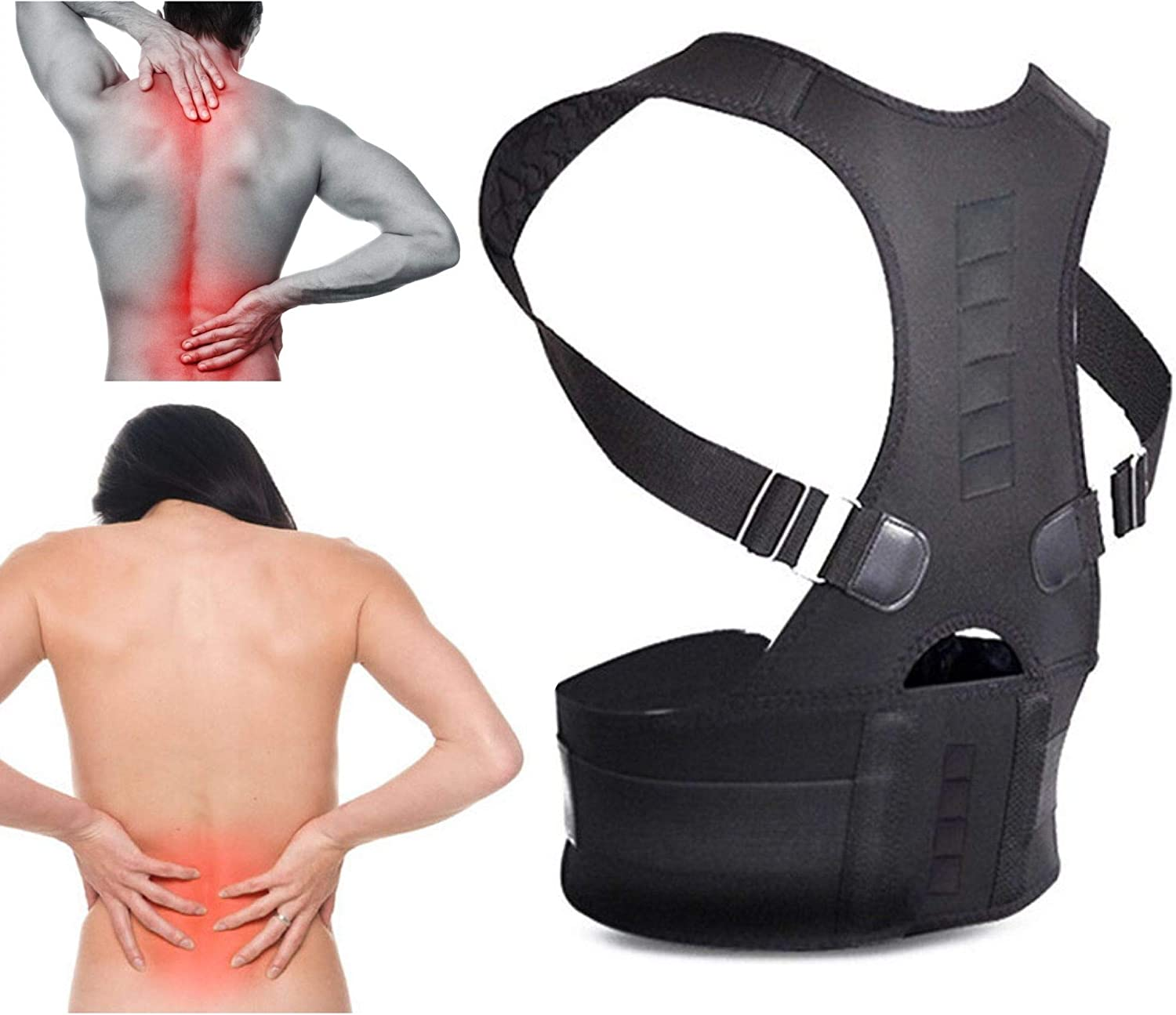 Breathable Mesh Design with Lumbar Pad Herniated Disc Sciatica Size XL Back Braces for Lower Back Pain Lower Back Brace for Back Pain Scoliosis and More!