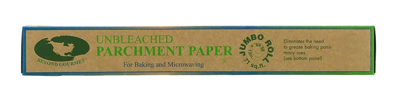 Beyond Gourmet 042 Unbleached Non-Stick Parchment Paper Made in Sweden, 71-Square-Feet, 15 x 1.75 x 1.75 Off-White cggevf7997