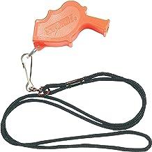 Markwort Storm Safety Whistle (Orange) with 48cm Black Lanyard