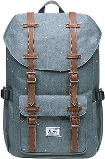 KAUKKO Rucksack Studenten 15 Zoll Backpack für 13 Notebook Lässiger Daypacks Schüler Bag für Wandern 41cm, 16L, Mini