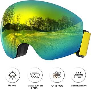 Best snow goggle anti fog Reviews