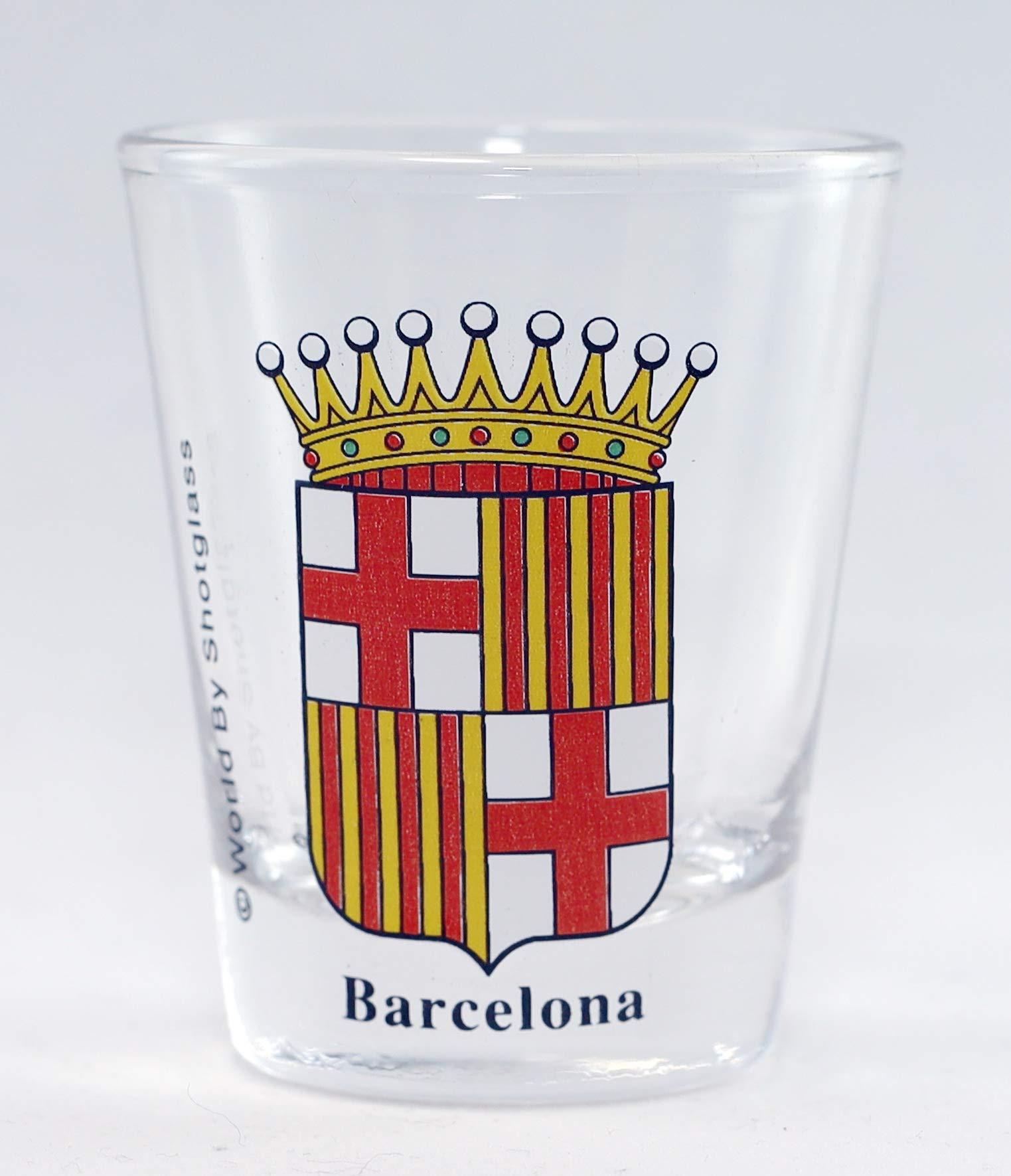 World By Shotglass - Vasos de chupito, diseño escudo de armas de España: Amazon.es: Hogar
