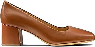 Clarks Women's Sheer Rose Pump, Tan Leather, 10