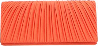 Satin Evening Bag Pleated Front Wedding Clutch