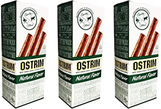 Ostrim Beef & Ostrich Meat Snack Sticks - Natural Flavor Pack of 30 - High-Protein Sports Nutrition