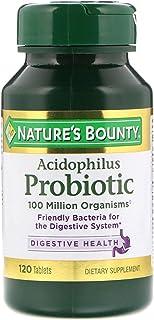 Nature's Bounty Probiotic Acidophilus Tablets, 120 ea (Pack of 3)