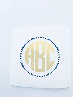 arrow circle monogram