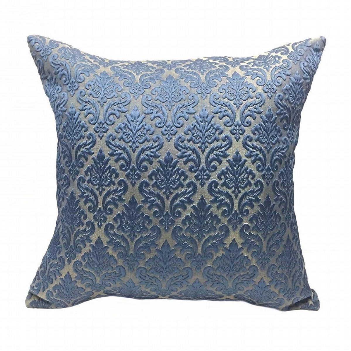 声を出して公平高度なKerwinner ポリエステル柔らかいsoild装飾的な濃紺の正方形の投球枕カバーセットクッションケース枕カバーソファ寝室車18 x 18インチ45 x 45 cm