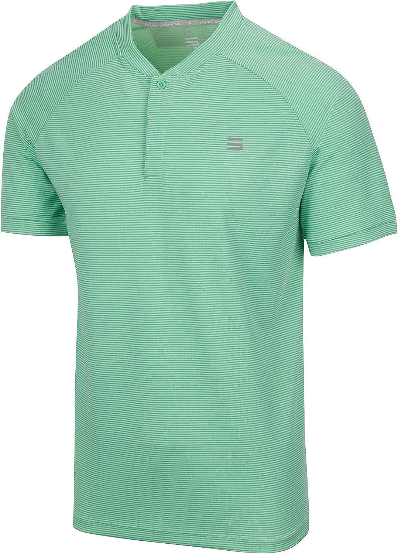 free shipping Three Sixty Six Collarless Golf Shirts Outstanding Men Men's Casu for -